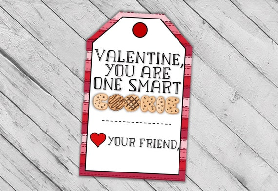 One Smart Cookie Valentine's Day Tags Cookie Valentines