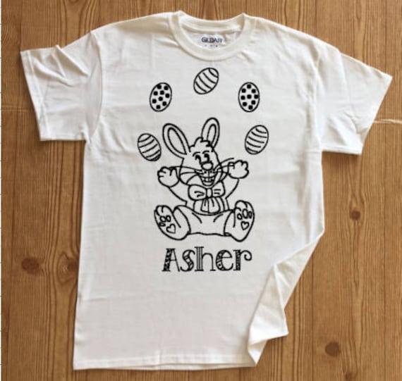 Easter Color Me Shirt, Coloring T-Shirt, Easter Gift for Kids, Easter  Outfit, Coloring Shirt, Easter Shirt, Easter Bunny Shirt