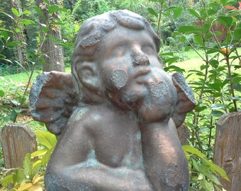 Always and Forever bronze with aged patina angel. This angel statue is perfect for you home or garden.