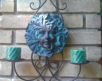 Greenlady hanging garden artwork for wall, fence, gate or tree.  Aurora will look great indoor or in your garden patio.