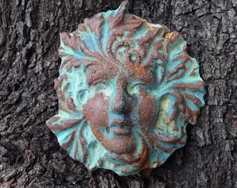 Greenlady hanging garden artwork for wall, fence, gate or tree. Whisper fairy look great indoor or in your garden patio.