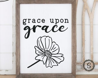 Grace Upon Grace Christian SVG and Cut File for Crafting