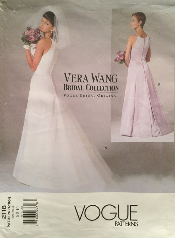 Vintage Vogue Vera Wang Bridal Collection Gown with Princess   Etsy