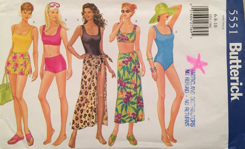 024a04de204 Easy Sew Butterick Misses' Tank Top Style Swimsuit w One | Etsy