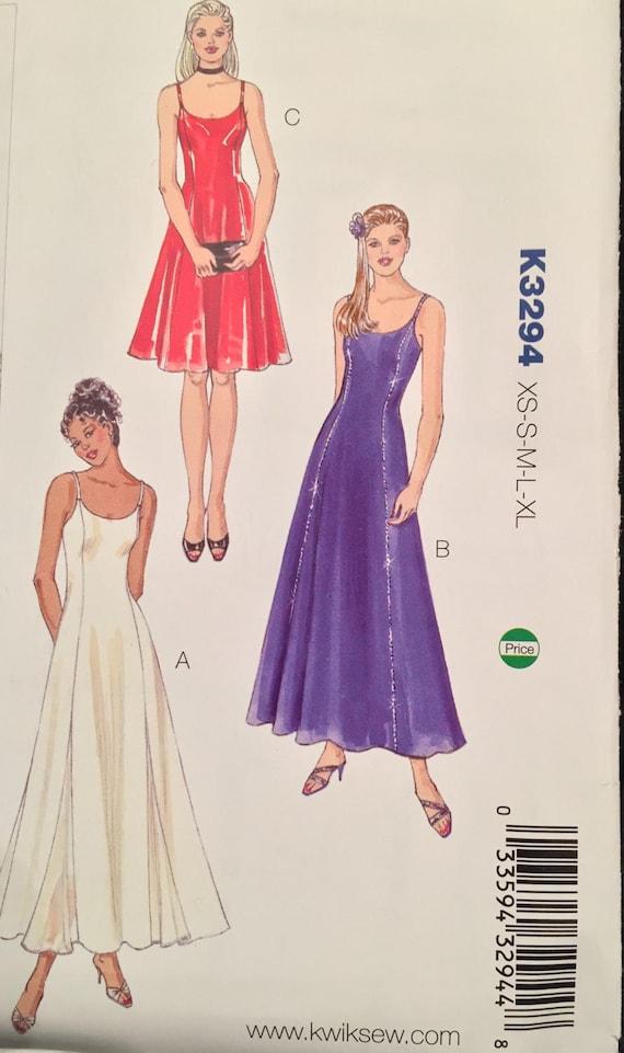 Kwik Sew Scoop Neck Dress w Twirl Skirt,Princess Seams, & Spaghetti ...