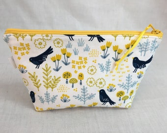 e5ddc479d0 Blue Bird Padded Zipper Cosmetic Bag