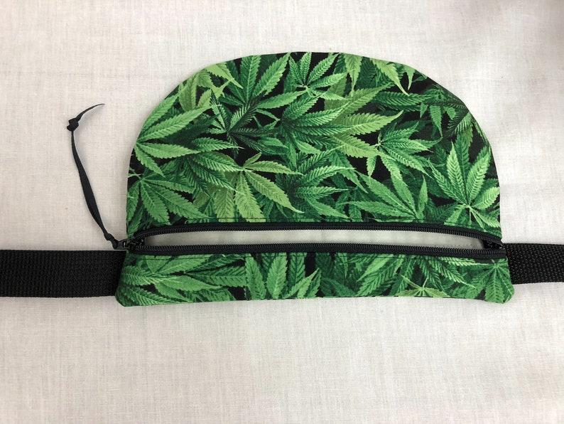 Hip Pouch Marijuana Cannabis Flat Fanny Pack Bum Bag Waist Pack Festival Bag