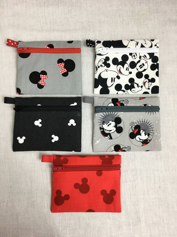 Mickey Minnie Mouse Coin Purse Earbud Credit Card Music  dd27127a0bab8