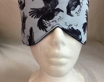 Ravens Sleep Mask Set,  Eye Mask, Blindfold, Cotton Eye Mask