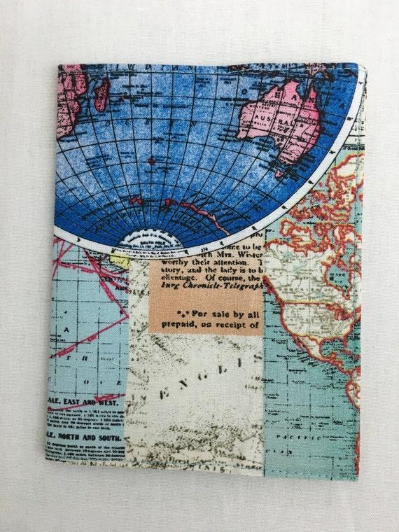 World Map Passport Holder.World Map Passport Cover Holder Protector Case Etsy