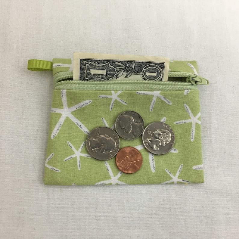 iPod case Earbud Pouch Credit Card Wallet Polka Dot Elephant Zipper Coin Purse