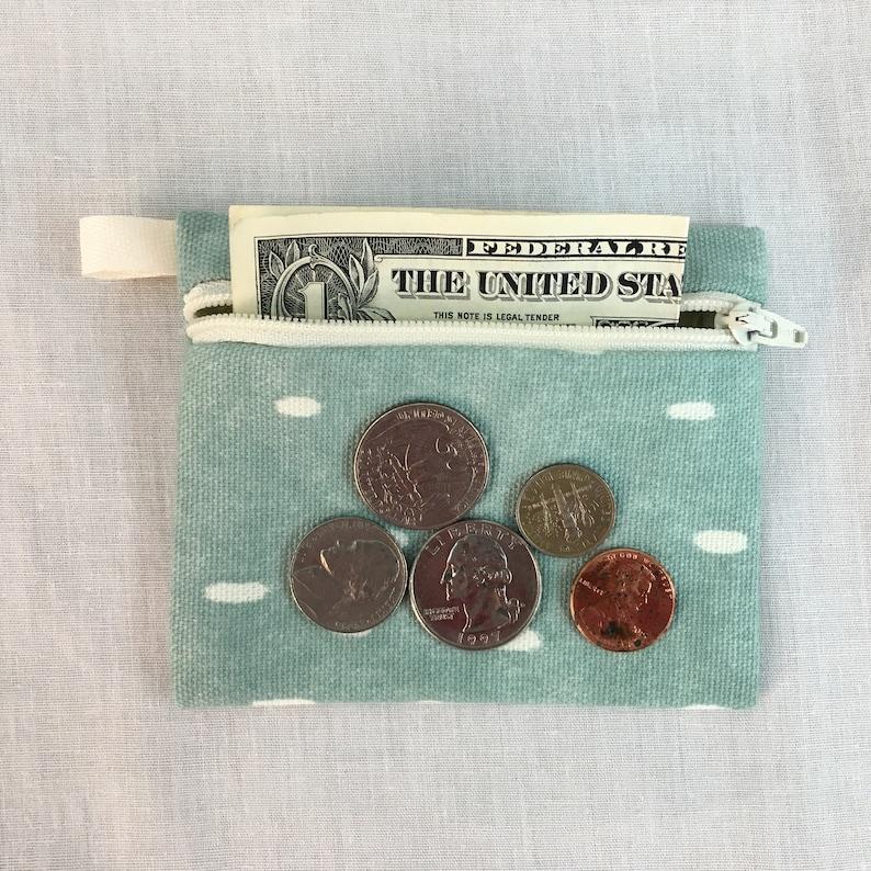 Credit Card Wallet Earbud Pouch Air Pod Case Scaredy Cat Flat Zipper Coin Purse