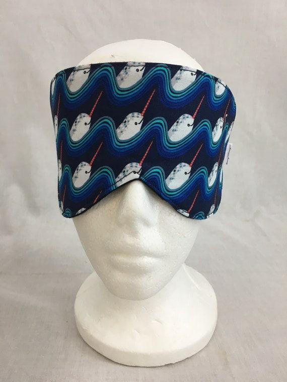 Eye Mask Travel Mask Sleeping Mask Blindfold Tiny Unicorns Cotton Sleep Mask /&Case Set