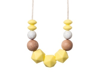 Glow Teething Necklace - Breast Feeding Necklace - Silicone Teething Necklace - Nursing Necklace - Chewing Beads