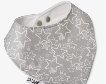 Star Dribble Bib, Bandana bib, Drool bibs, Baby bandana, Micro fibre backing, Stylish bib, KAM snap fastener, Baby Shower gift, Baby gift.