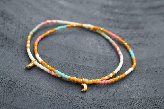 blue miyuki beads miyuki beacelet Blue beads bracelet dainty bracelet seed bead bracelet gold bracelet seed beads jewelery