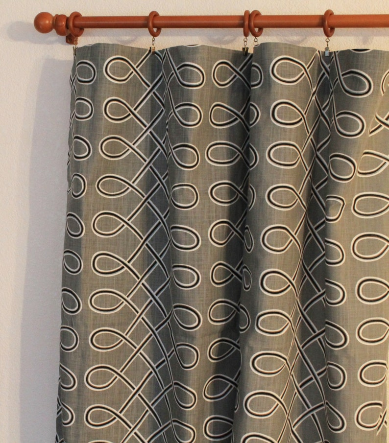drapes Premier Prints Aiden 25x63 25x84 25x96 25x108 blue navy coral green Curtain 1 Pair of 25 wide  panels