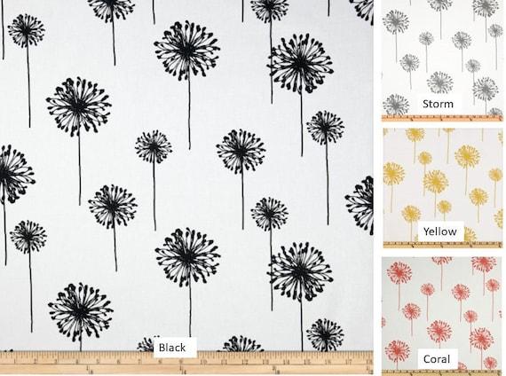Pair 25 Or 50 Premier Print Dandelion, Dandelion Print Curtains