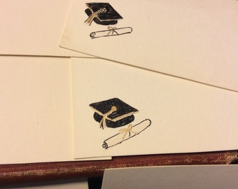 Vintage Graduation Commencement Greeting Cards Collection Feminine Floral circa 1940s