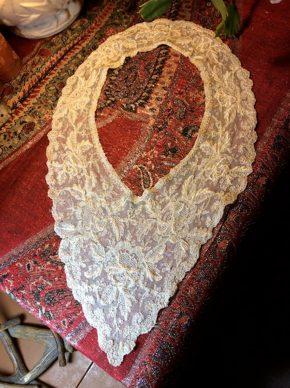 Victorian Edwardian Lace Collar, Hand Made Lace Co