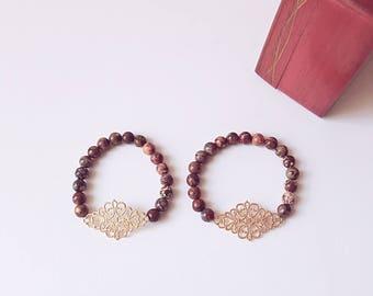 Beaded Bracelet/ Leopard Bracelet/Charm Bracelet