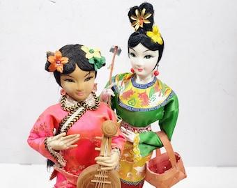 Vintage 70s Asian Oriental Dolls 2