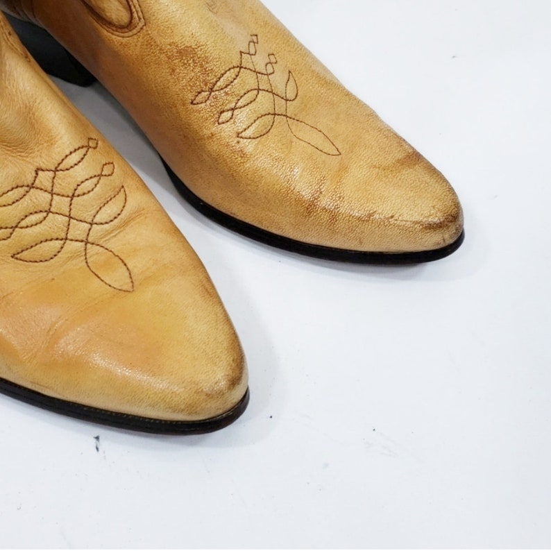 Vintage Tan Leather Laredo Cowboy Western Boots 7