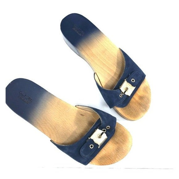Navy DrScholls Sandals Vintage Wood Blue 7 Leather K1J3uTclF