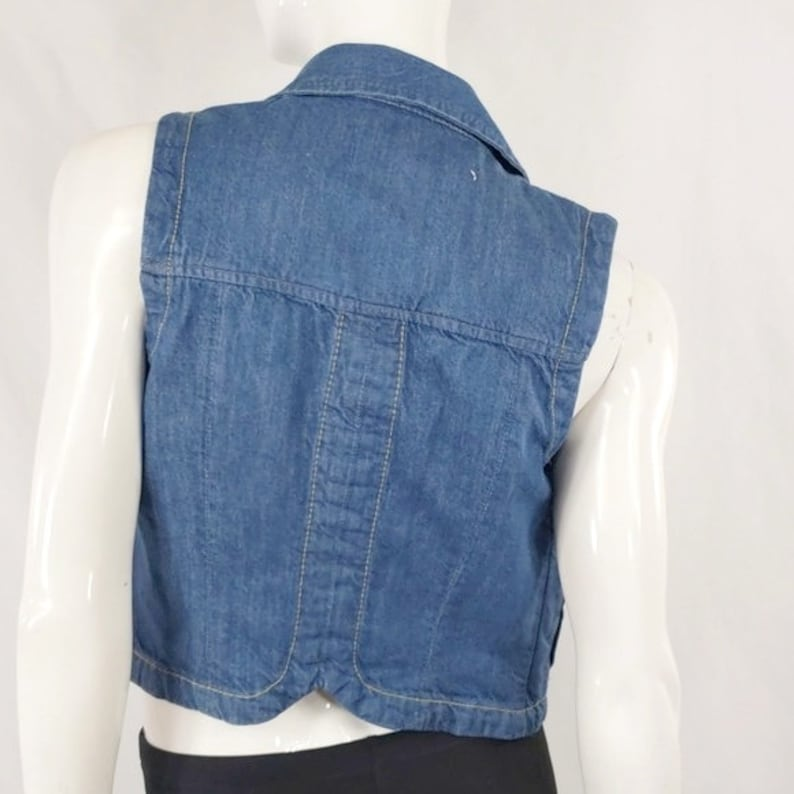 Vintage French Connection Blue Denim Jean Vest S