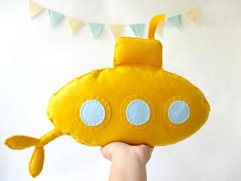 Yellow Submarine Stuffed Toy Yellow Submarine Submarine Etsy