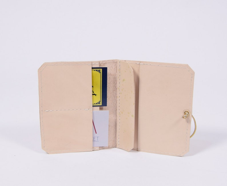 UNIQUE leather wallet Isaac in cream*dots*golden