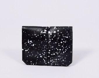 UNIQUE leather wallet Isaac dots*black'n'white