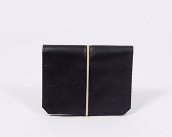 Leather wallet Isaac in black