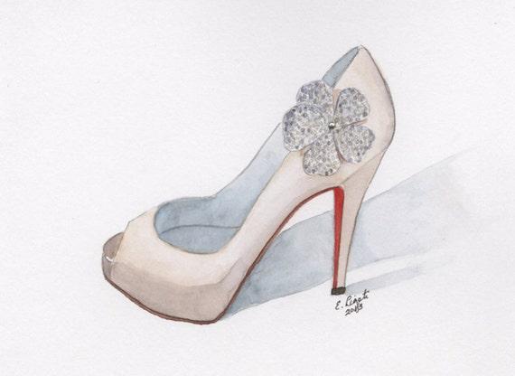 729d4b741432 Christian Louboutin Wedding Shoe Red Wedding Art Gift Fashion