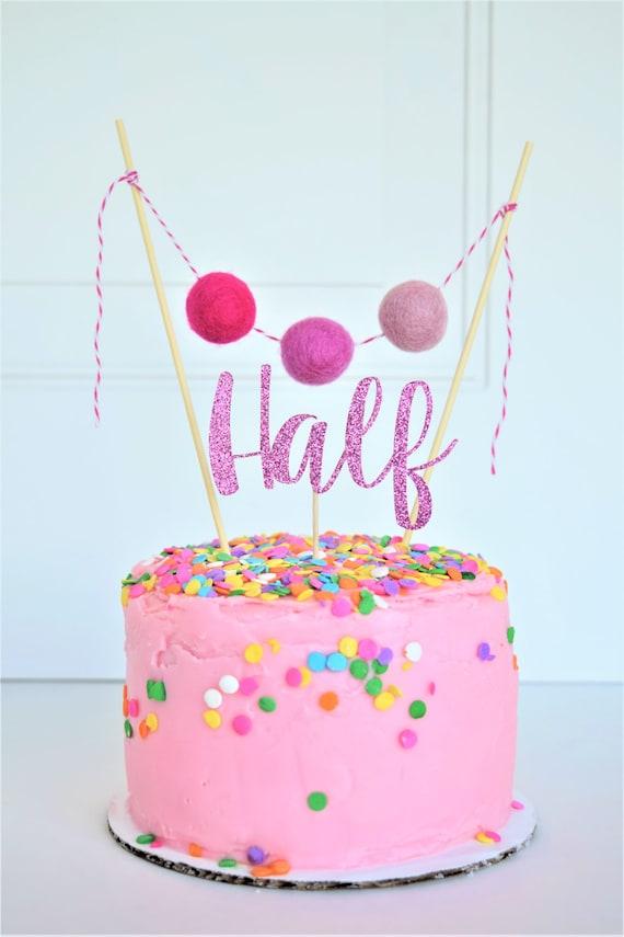 Half Birthday Girl Cake Topper6 Month Photos6 Month Etsy