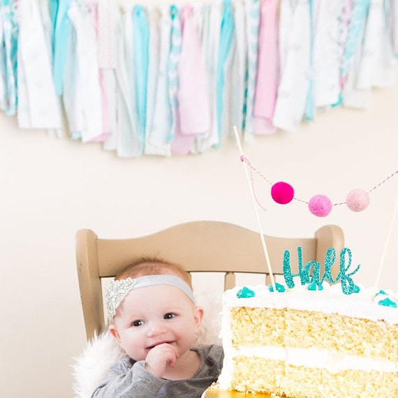 Half Birthday Girl Cake Topper6 Month Photos6