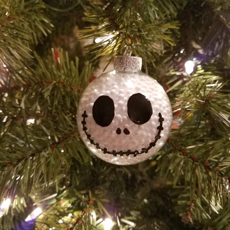 7c51c550d7ec0 Nightmare Before Christmas Ornaments Set of 8 Jack Skellington Baubles Snow  Fill... Nightmare Before Christmas Ornaments Set of 8 Jack Skellington  Baubles ...