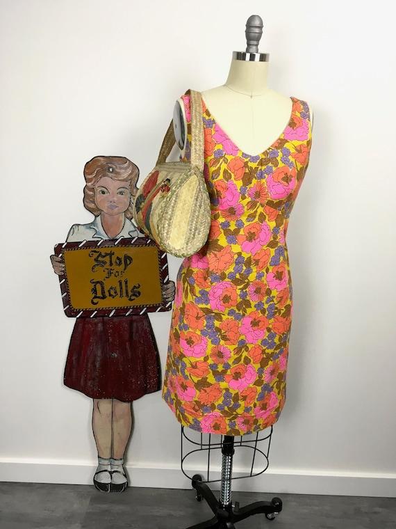 1950s 1960s Vintage Hawaiian Wiggle Dress Size Sma