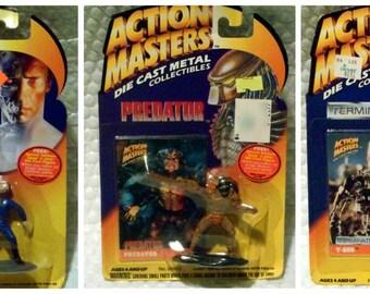 Action Master Vtg Die Cast Metal Figures Aliens  Terminator   Predator  Near Mint in Box MIB