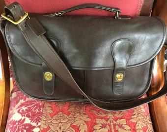 58bd570b2b Vintage Coach Mocha NYC Musette Briefcase, Messenger, Crossbody Shoulder Bag