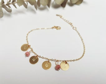 Personalized bracelet 4 astrological signs and natural stones