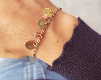 Bracelet with astrological signs and protective stones