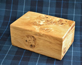 Another of our KeepsafeStashTrinketJewellery Box in a lovely combination of Scottish Oak and Greenheart