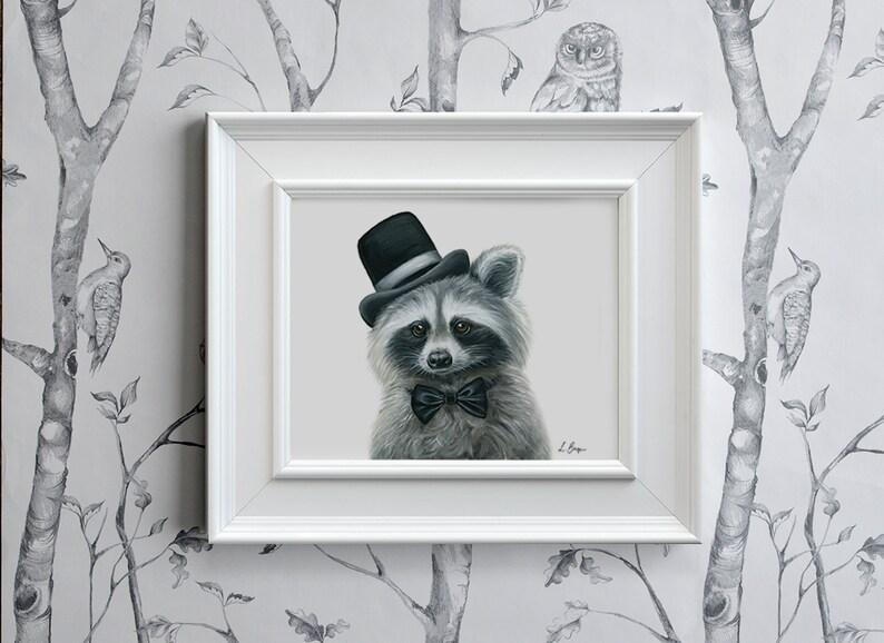 Raccoon print, racoon art print, raccoon printable art, racoon nursery  print, woodland print, animal print, racoon, racoon instant download