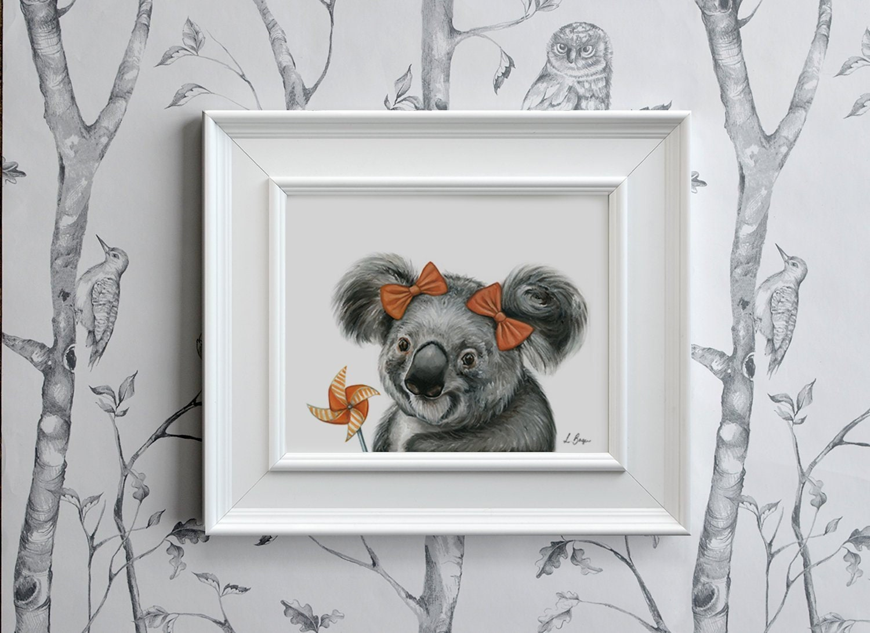 Koala Print Koala Art Print Koala Printable Art Koala Etsy
