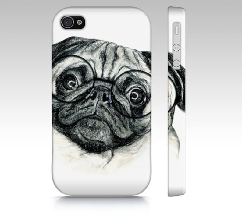 check out c6cfd 9c96f Pug phone case, pug dog case, dog mobile case, dog iPhone case, pet device  case, pet portrait iPhone case, pug iPhone, dog phone case, pug