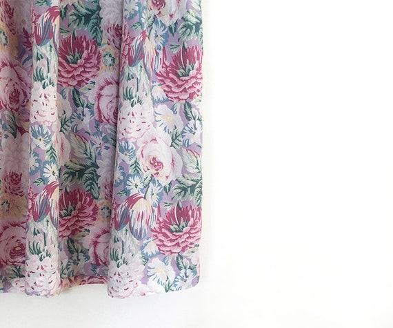 breezy vintage peony tulip print cotto dress S / M - image 4
