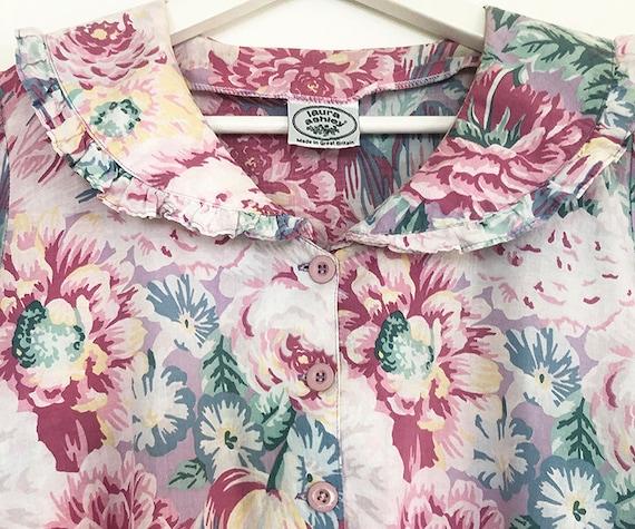 breezy vintage peony tulip print cotto dress S / M - image 5