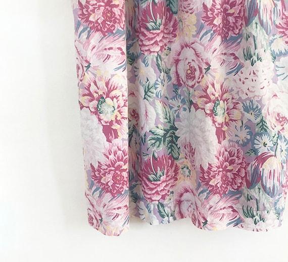 breezy vintage peony tulip print cotto dress S / M - image 8