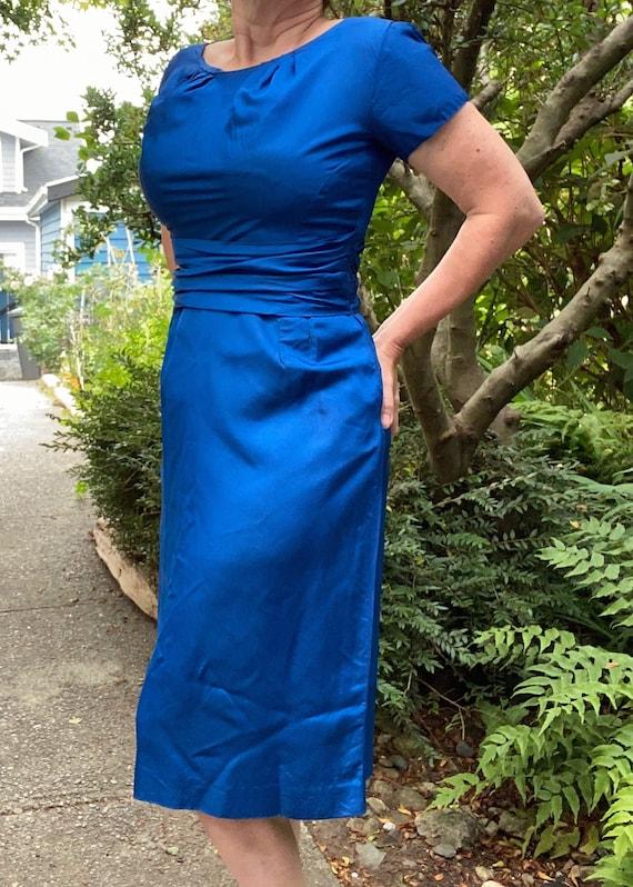 Rich Royal Blue 1950's vintage Dress